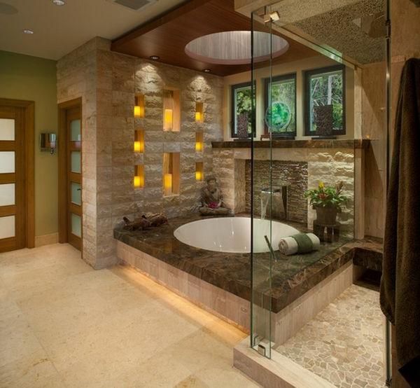 Badeinrichtung mit Stil texturen duschkabine glas