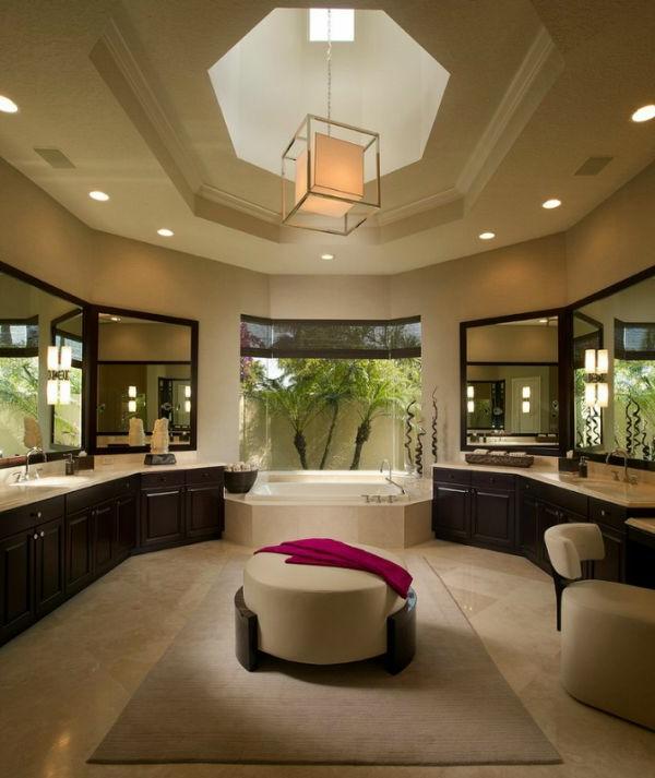 Badeinrichtung mit Stil texturen hocker rund tisch