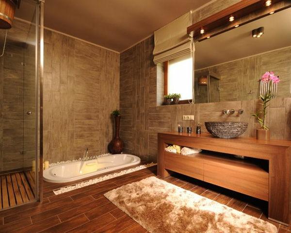Badeinrichtung mit Stil texturen teppich bodenbelag holz