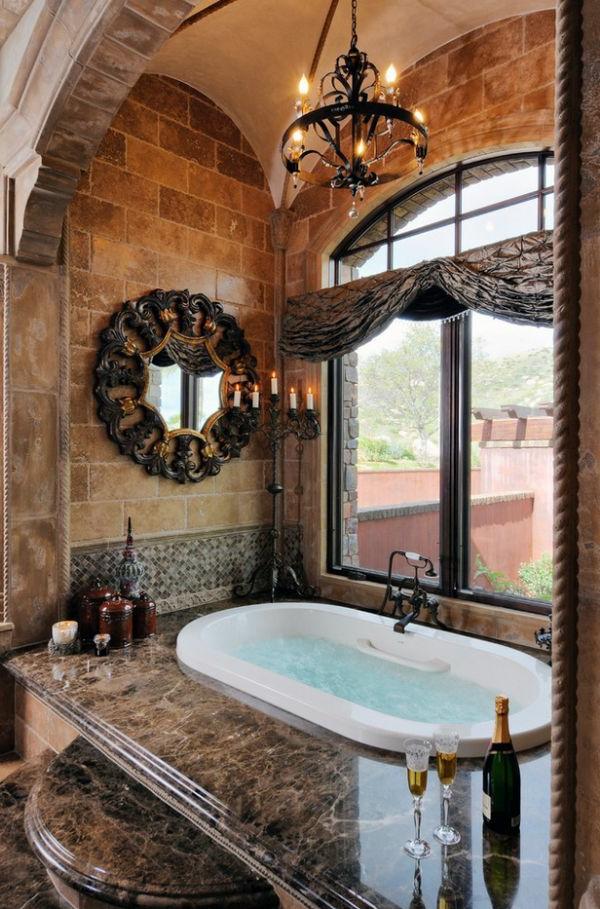 Badeinrichtung  Stil wand spiegel badewanne