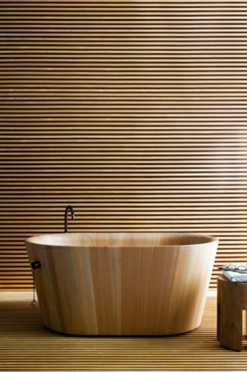 Badezimmer Badewannen aus Holz außergewöhnlich