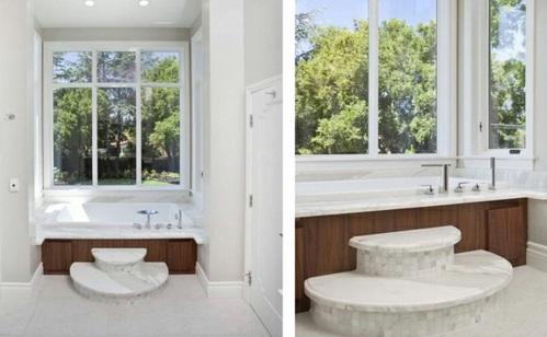 Badezimmer mit Badewannen aus Holz baum