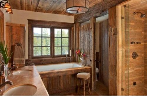Attraktive Badezimmer Mit Badewannen Aus Holz