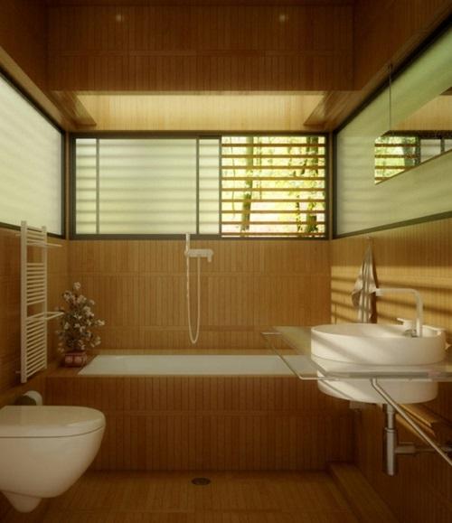 Attraktive badezimmer mit badewannen aus holz - Badezimmer mit holz ...