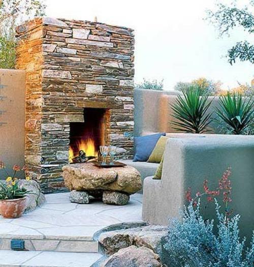Den balkon mit naturstein gestalten coole vorschlage for Feuerstelle garten mit paravent sichtschutz balkon