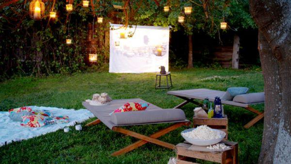 Bastelideen im Garten gartenbeleuchtung gartenmöbel