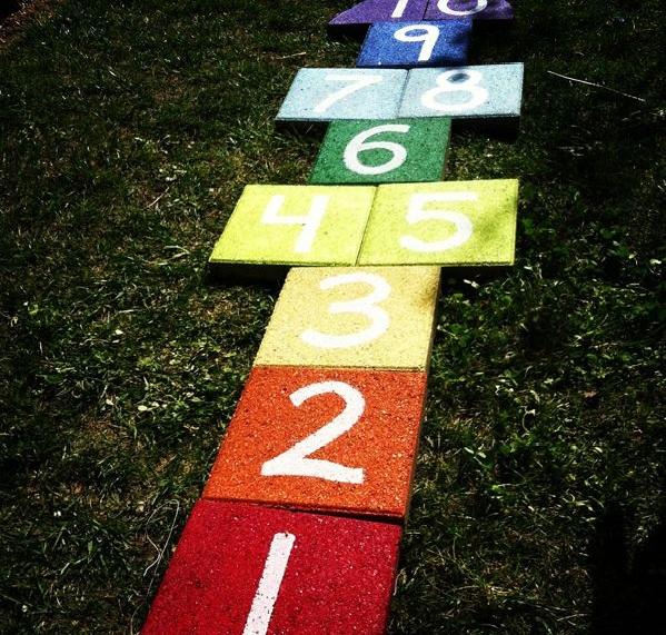 Bastelideen spielen im Garten kinderspiele