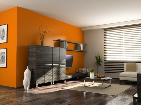 best wohnzimmer orange braun contemporary