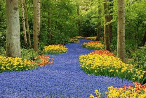 Bunte Gartengestaltung und Gartendeko niederlande pracht märchen