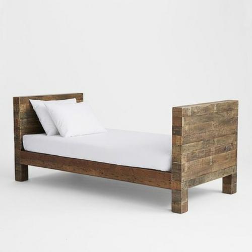 Chaiselongue und Schlafcouch ohne rückenlehnen holz gestell