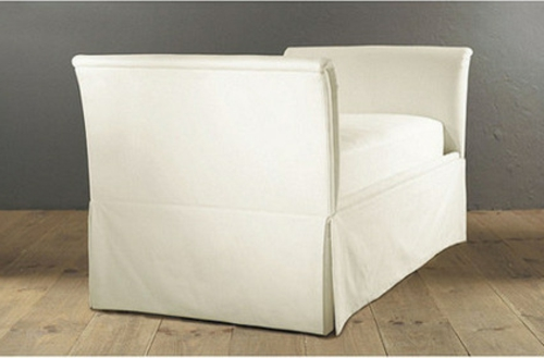 Chaiselongue und Schlafcouch ohne rückenlehnen kompakt