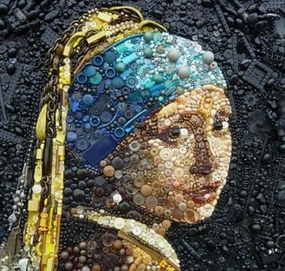 Kunst Gemälde contemporary kunst aus recycelten materialien perkins