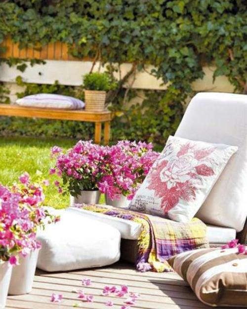 Coole Gartendekoration blumen liege rückenlehne metall eimer