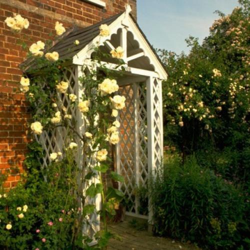 Coole Gartendeko blumen rose strauch rosenbogen