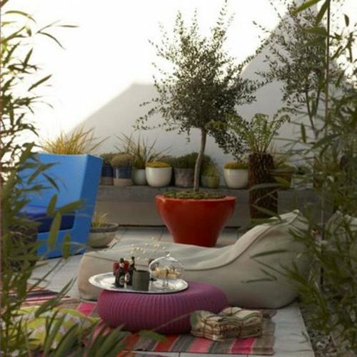 Gartendeko blumen teppichläufer blumentopf glanzvoll