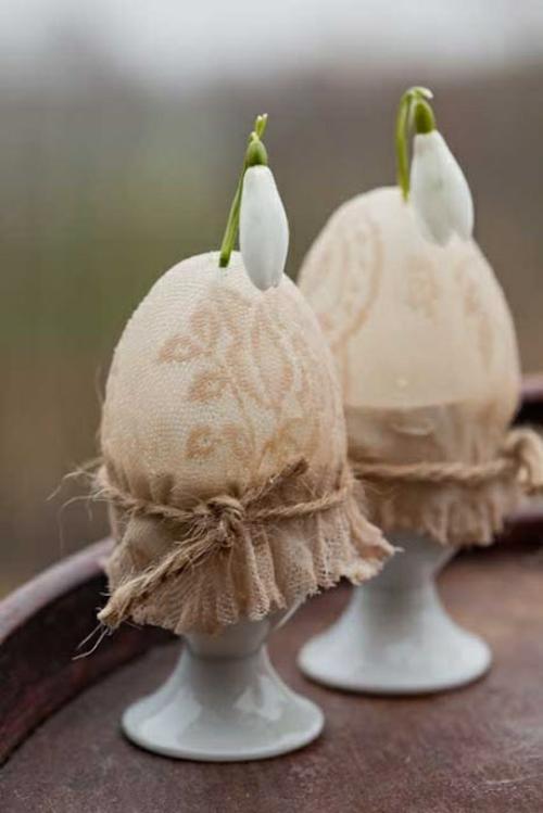 Coole Osterdeko basteln blumen frühling eierhalter