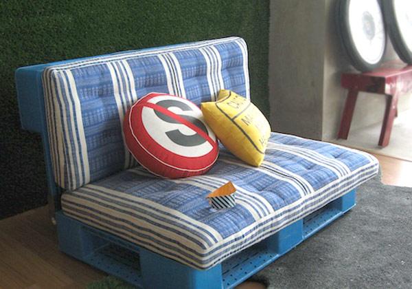 DIY Möbel aus Europaletten sofa auflagen bequem