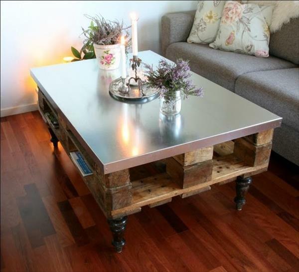 DIY Tische aus Europaletten couchtisch nüzlich