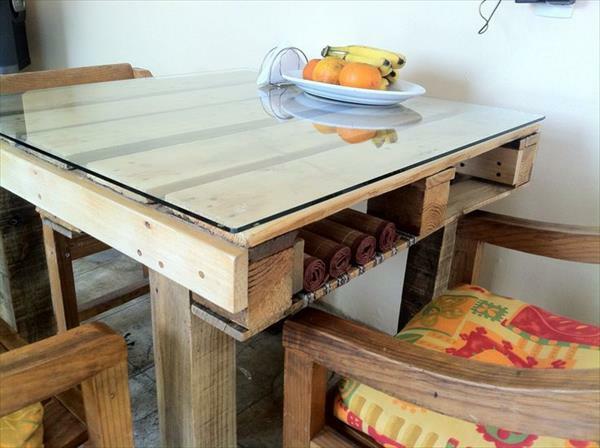Tische aus Europaletten esszimmer küche esstisch