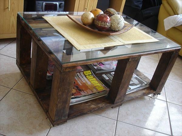 Tische aus Europaletten glasplatte regale staufläche
