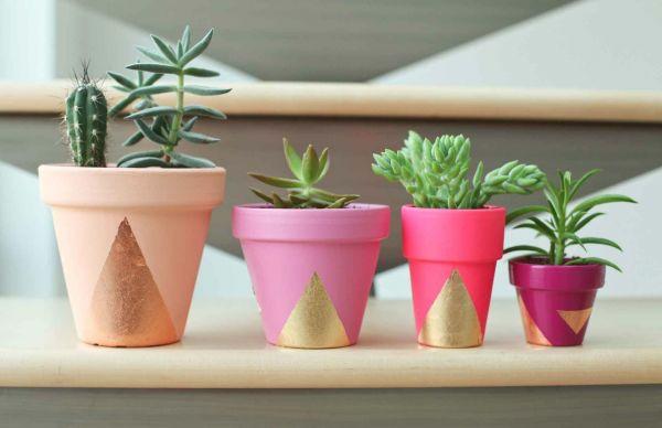 DIY ideen übertöpfe pflanzen