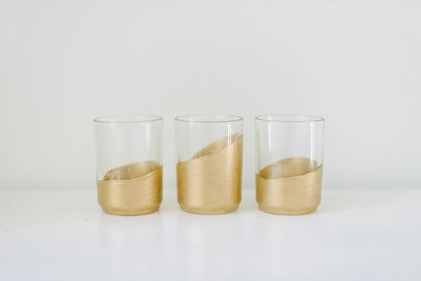 DIY ideen golden glas