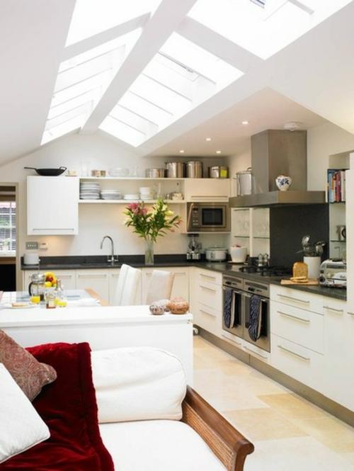 Dachfenster zu Hause küche licht hell interessant gestaltung