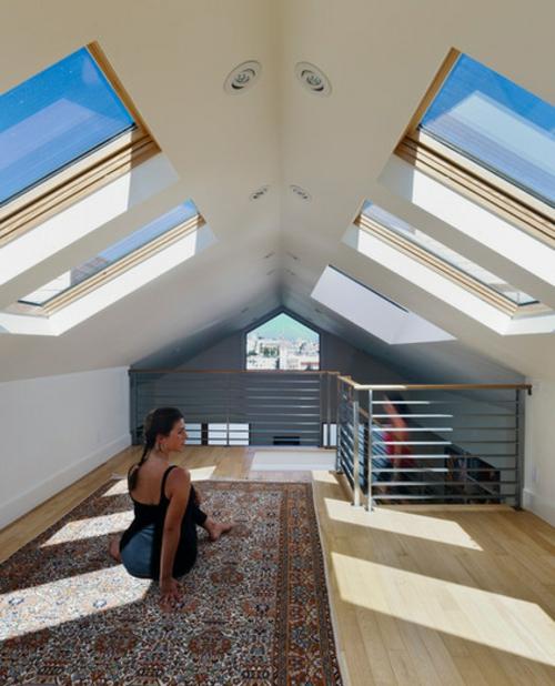 Dachfenster zu Hause perserteppich fitness