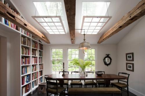 Dachfenster zu Hause rustikal einrichtung balken holz