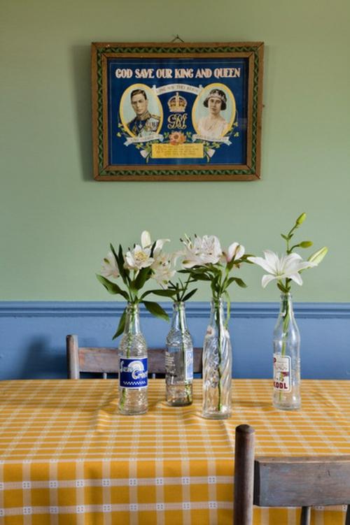 Dekoideen für Frühlingsdeko frisch blumen vase glas