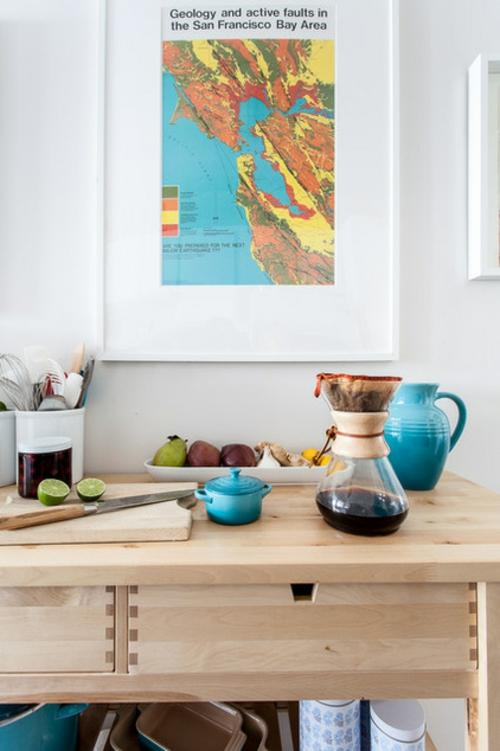 Dekoideen für Frühlingsdeko küche keramisch blau gewürze