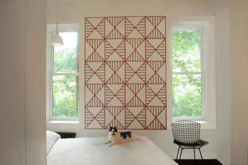 Dekoideen für Frühlingsdeko wandgestaltung geometrisch muster
