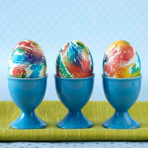 Dekoideen  Osterdeko Ostereiern eierhalter