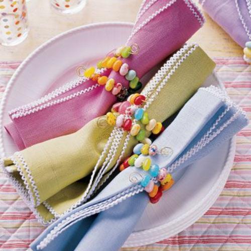 küchen tücher servietten Tischdeko zu Ostern