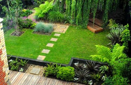 Garten und Landschaftsbau fußweg pfad schatten
