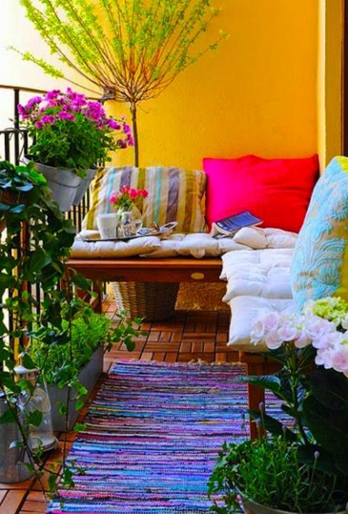 Gartendeko Gartenzubehör gelb wand balkon geländer