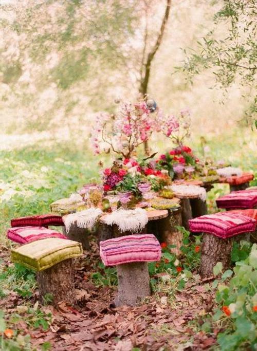 Ihre Gartendeko und Ihr Gartenzubehör hocker auflage bunt