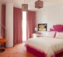 Wohnideen Schlafzimmer Rosa hinreißender schaukelstuhl im schlafzimmer 15 schöne wohnideen