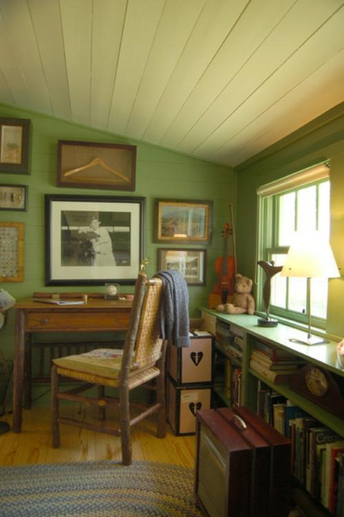 Home office touches f r jedermann inneneinrichtung mit stil - Wandgestaltung buro ...