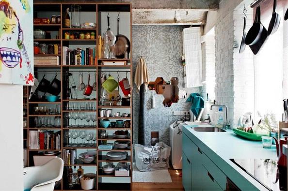 Küchenideen geöffneter schkrank