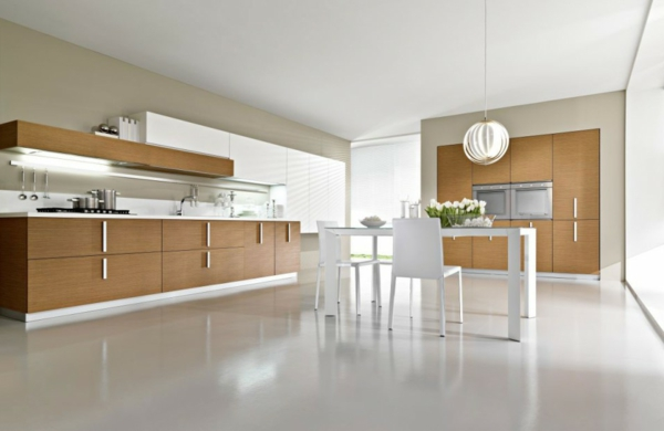 Kücheninsel entwerfen fliesen weiß glanzvoll einrichtung