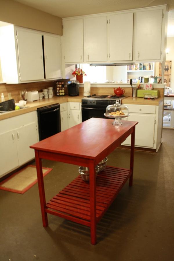 Kücheninsel entworfen holz arbeitsplatte simpel DIY
