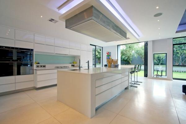 Kücheninsel gestalten deckenbeleuchtung modern küche