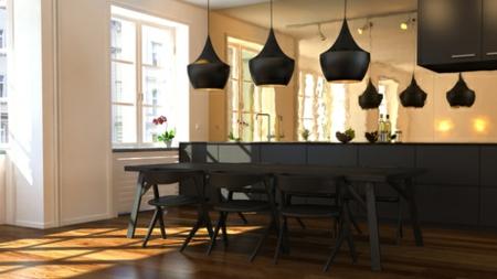 3D appartment schwarz küche 2014 einrichtung