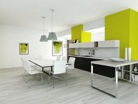 moderne grüne küche 2014 minimalistischer stil