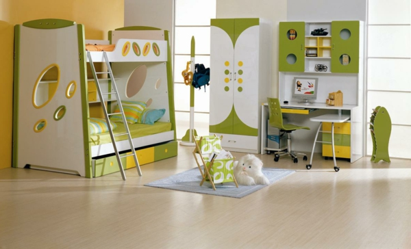 Kleiderschrank fürs Kinderzimmer kompakt hochbett leiter