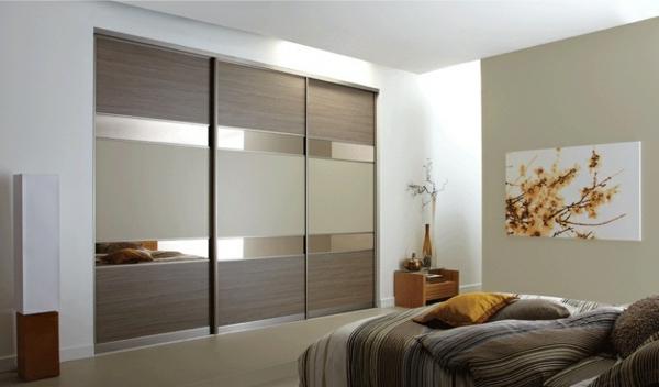 garderobe mit  Schiebetüren natürlich schlafzimmer design