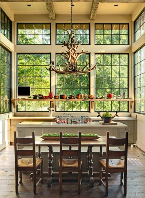 Landhausstil zu Hause populär einrichtungsideen glas wand fenster