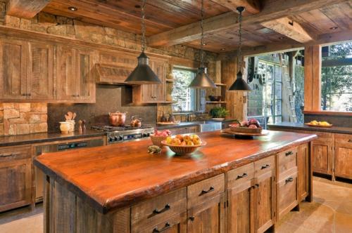 Landhausstil zu Hause populär einrichtungsideen küche lampen