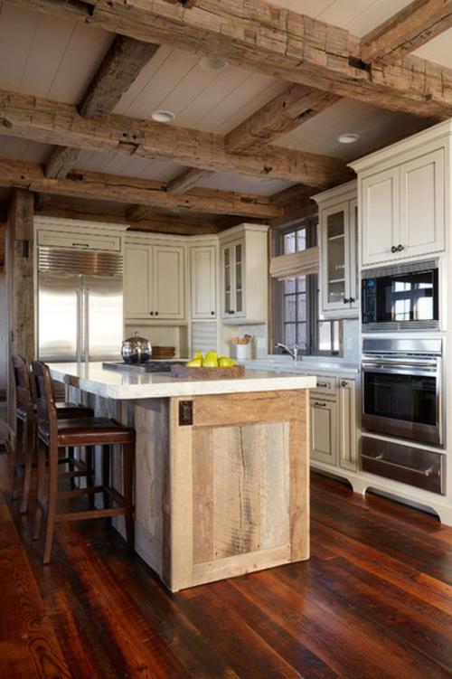 Landhausstil zu Hause populär einrichtungsideen kücheninsel